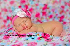 Inspiration For New Born Baby Photography : Newborn baby girl pose photo shoot  photography session ideas