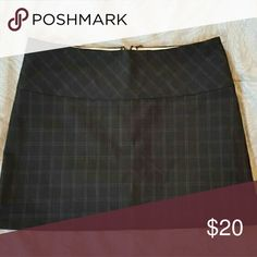 Express Skirt Black with subtle plaid print. Like new condition. Express Skirts Mini