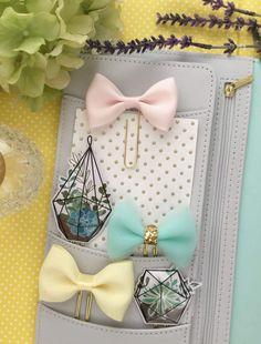 44cbb75016f4 Blush Satin Bow Planner Clip Paper Clip by FrankandFriendsShop Ribbon Bows,  Satin Bows, Gold