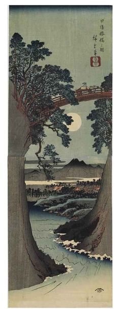 Utagawa Hiroshige (1797-1858) | Koyo Saruhashi (The Monkey Bridge in Kai province) | Prints & Multiples, woodcut | Christie's