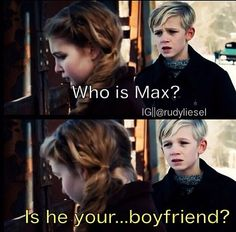 Here, Rudy asks Liesel who Max is in the film version of The Book Thief. Rudy had seen Liesel's journal, given to her by Max. Franz Deutszcher--Rudy's Hitler Youth leader--overheard this, and promptly throws the journal into the river. Book Thief Quotes, Movie Quotes, Film Quotes, The Book Thief Rudy, Good Books, My Books, Reading Books, Markus Zusak, Book Fandoms