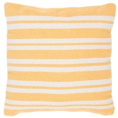 This soft hand made pillow in bright shades of yellow and white from the Santorini collection will be a wonderful addition to your beach hou...
