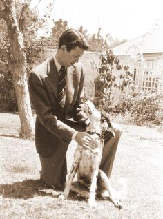 Jimmy Stewart and his dog Beau.  He loved this dog so much, he actually published a poem about him.