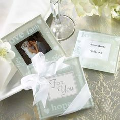 Good Wishes Glass Photo Coasters by Beau-coup $1.79 per set of 2