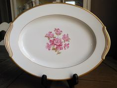 Goregous Noritake Japan 5235 Platter with Pink Dogwood Blossoms! Perfect for Easter!