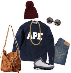 """Trill tough"" by abcdefghijk-794 ❤ liked on Polyvore"