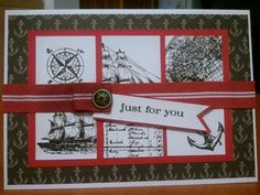 stampin up sea theme cards | Stampin up - Open sea