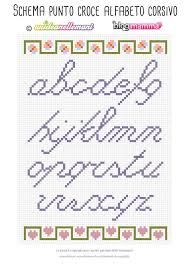 Risultati immagini per alfabeto punto croce piccolo