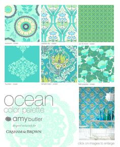 Ocean. I've been searching for just the right wallpaper for the lower level. FINALLY!