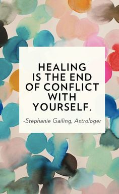 Heal yourself.