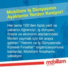 """Mobilizm, İTÜ Yatırım Kulübü'nün organize ettiği, en iyi uluslar arası organizasyonlardan biri olan """"Yatırım ve İş Dünyasında Küresel Fırsatlar""""ı (GOBI) sponsorları arasında!"""