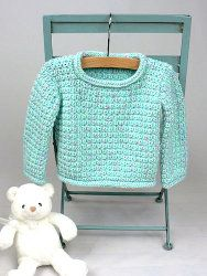 Baby Pullover Sweater Crochet Pattern from Caron Yarn Crochet Baby Sweaters, Crochet Baby Clothes, Baby Knitting, Free Knitting, Crochet Toddler Sweater, Baby Sweater Patterns, Baby Patterns, Crochet Patterns, Knitting Patterns