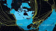 This is what makes our jobs (and our playtime) possible. Pretty crazy, huh?  Map of the underwater Internet
