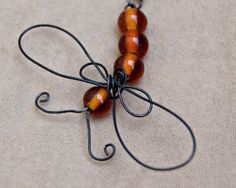 wire wrapped dragonfly necklace by AmberDawnJewelry on Etsy Dragonfly Necklace, Dragonfly Pendant, Wire Jewelry, Unique Jewelry, Cat Sketch, Dragon Flies, Wire Crafts, Beads And Wire, Wire Wrapping