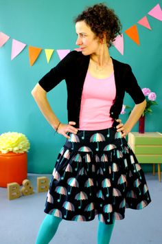 Dark umbrella skirt. (There are far too many cute patterns in this range, it's ridiculous.)
