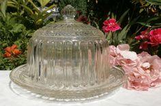 French Vintage Art Déco Platter with Glass par FrenchVintageByManue