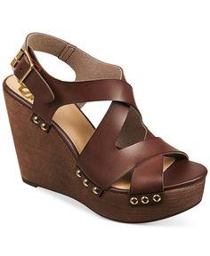 Fergalicious Lauren Slingback Platform Wedge Sandals - Shoes - Macy's