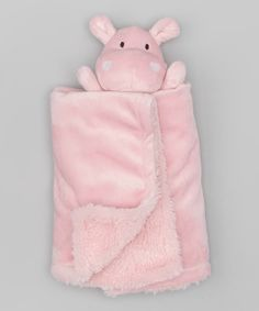 Oh how i adore hippos-The only thing better than luxuriously soft blankets from Piccolo Bambino is having a cute and cuddly pal on top. Made from soft creamy fabric, this blanket makes an adorable gift for new parents. 17'' x 17''100% polyesterMachine washImported