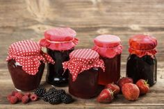 Buy Glass of homemade by grafvision on PhotoDune. Glass of homemade jam from assorted berry fruit