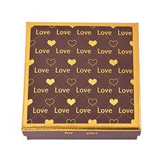 MJARTORIA Assortiment De 9 Chocolat Ecrin Boites Coffret Marron Carré Cœur Love pour Famille Set Stockage Fête Noël