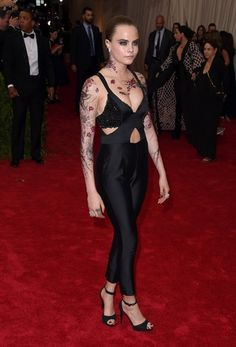 """Cara Delevingne attends the """"China: Through The Looking Glass"""" Costume Institute Benefit Gala at the Metropolitan Museum of Art on May 4, 2015 in New York City."""