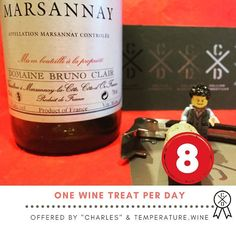 The #adventcalendar for #serious #winelovers  The #wine treat of day 8 before #christmas : #marsannay is part of Côte de Nuit in #Burgundy. Quite unique this #Appellation is available in red white or rosé!!! Domaine #BrunoClair offers also Fixin Savigny-les-Beaune and Morey-St. Denis.
