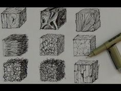 Pen & Ink Tutorial | How to create realistic textures