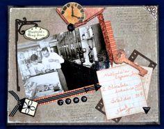 ScrappyHorses mixed media canvas.  CTMH, Artbooking, ScrappyHorses.ctmh.com