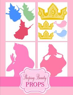 Sleeping Beauty Party GRAPHICS - Disney Princess Party - Cut Outs - Aurora Party - Sleeping Beauty Printables -Photo Props- INSTANT Download on Etsy, $2.50