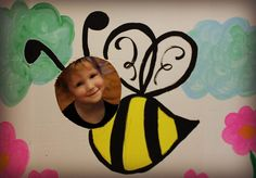 bumble bee cutout photo booth