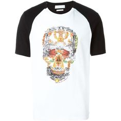 Alexander McQueen Short Sleeve T-Shirts (665 BRL) ❤ liked on Polyvore featuring men's fashion, men's clothing, men's shirts, men's t-shirts, mens short sleeve t shirts, alexander mcqueen men's t shirt, mens white t shirts, alexander mcqueen mens shirt and mens short sleeve cotton shirts