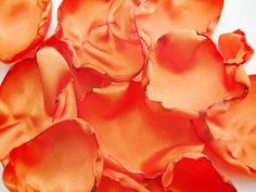 Orange flower petals, rose petals, table decor, flower girl petals, alternative wedding, baby shower decor, bridal shower decor #etsy #gifts