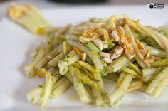 Caserecce con zucchine trombette e pesto ligure: da Imperia a Expo2015