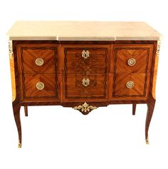 French Louis XVI Period Marquetry Commode,1780