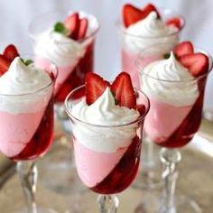 Jell-O Strawberry Parfait