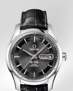 Montres OMEGA : De Ville Hour Vision Omega Co-Axial Calendrier Annuel 41 mm - Acier sur bracelet cuir - 431.33.41.22.06.001