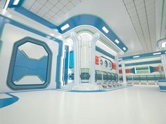 Sci-Fi Interior royalty-free 3d model - Preview no. 6