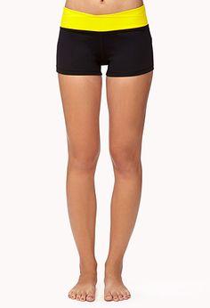 Contrast Waist Workout Shorts $12.80