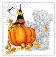 Me to you # Happy Halloween Tatty Teddy, Bear Illustration, Halloween Illustration, Holidays Halloween, Happy Halloween, Bear Halloween, Cute Images, Cute Pictures, Teddy Pictures
