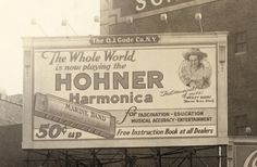 1920s Hohner Billboard in New York City