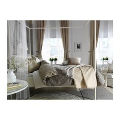 Great use of neutrals in a room  MALOU Duvet cover and pillowsham(s) - Full/Queen (Double/Queen) - IKEA
