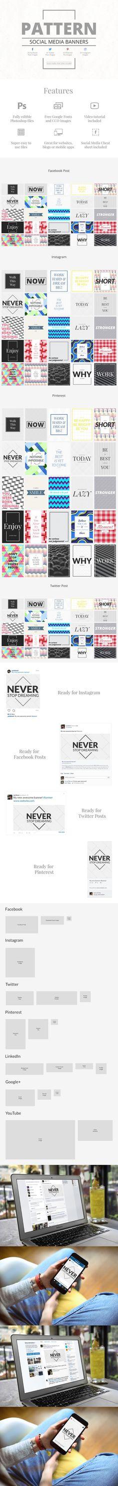 Pattern Social Media Banners
