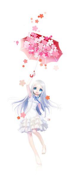 Menma - Ano Hi Mita Hana no Namae o Bokutachi wa Mada Shiranai Manga Anime, Sad Anime, Manga Girl, Anime Art, Anime Girls, Menma Anohana, Vocaloid, Watch Manga, Hokusai