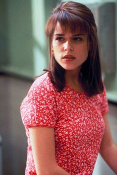 Sidney Prescott in Scream ~ I loved this top Neve Campbell had on in the movie...I had a yellow one just like it from the Gap. So 90's!