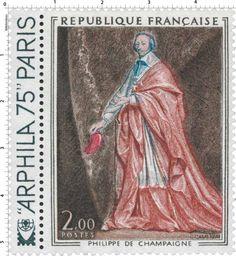 Timbre 1974 PHILIPPE DE CHAMPAIGNE ARPHILA 75 PARIS   WikiTimbres