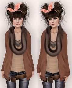 Aux - Mister Rogers Sweater & Infinity Scarf Set - Worn http://maps.secondlife.com/secondlife/Illusory/112/128/24