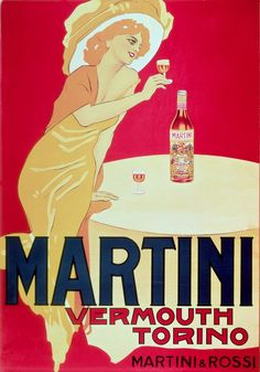 Poster advertising Martini Vermouth, Torino, 1900