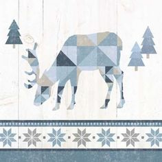 Nordic Geo Lodge Deer II Canvas Print by Wild Apple Portfolio Canvas Artwork Big Wall Art, Wooden Wall Art, Framed Wall Art, Wood Wall, Outdoorsy Style, Geometric Deer, Deer Print, Art Print, Lodge Decor