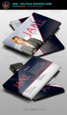 Political business card template 6 pinterest card templates jane political business card template corporate business cards colourmoves