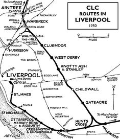 Liverpool extension lines Train Map, Train Route, Liverpool History, Liverpool Home, Bishop Auckland, Disused Stations, New Brighton, Railway Posters, Southport